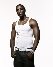 Akon, akon with white background, akon shirtless